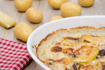 Kartoffelgratin in einer Auflaufform