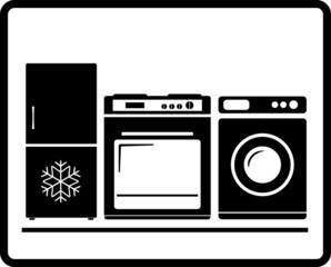 household appliances icon gas stove refrigerator washing machine