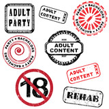 adult content stamp series