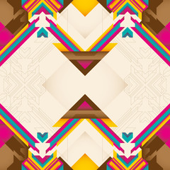 Colorful abstract composition with geometric shapes.