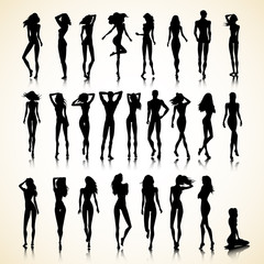 Summer set of silhouettes