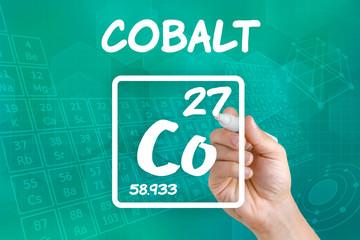 Symbol für das chemische Element Cobalt