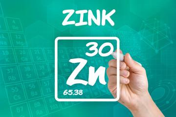 Symbol für das chemische Element Zink