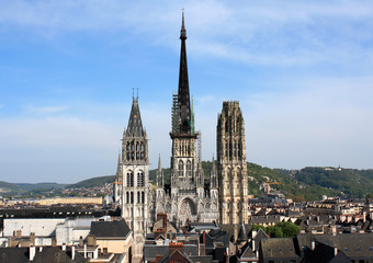 France. Rouen.Cathédrale Notre-Dame de Rouen