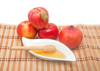 Fruit and honey at Jewish New year