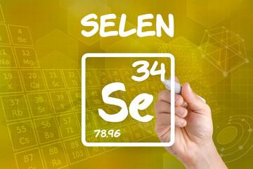 Symbol für das chemische Element Selen