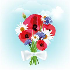 white_ribbon_bouquet