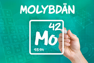 Symbol für das chemische Element Molybdän