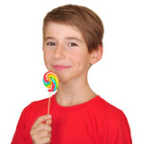 boy with candy