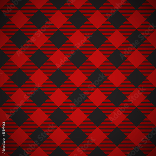 Lumberjack plaid pattern tilted