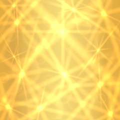 Gold background with sparkling twinkling stars (pattern)