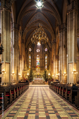 Interior of Zagreb Cathedral, Croatia