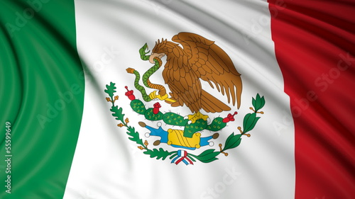 Mexican flag waving