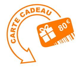 carte cadeau 80 euros flèche orange