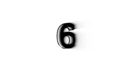 Countdown black and white