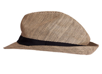 Men's braided hat with black rim