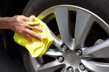 Car washing.