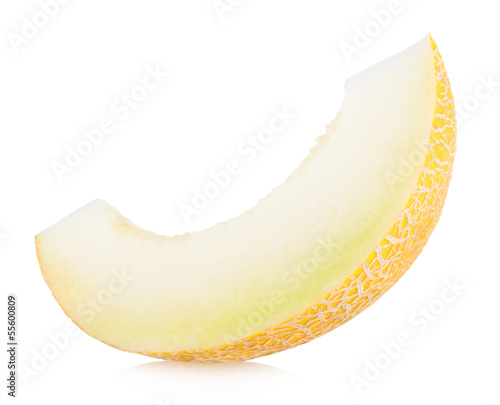 melon slice isolated on white background