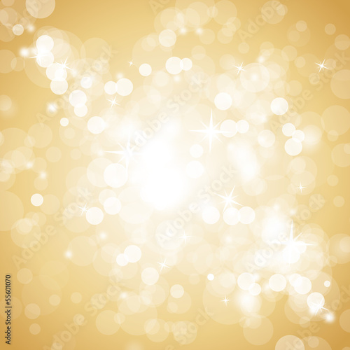 Lights On Beige Background