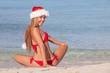 christmas holiday beach woman