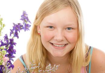Portrait of Beautiful Blond Teenage Girl