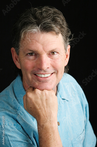 Handsome Middle-aged Man Smiling