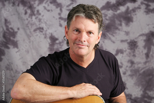 Portrait of Mature Musician