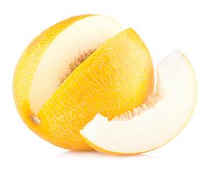 ripe melon isolated on white background