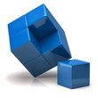 Illustration of blue cubes