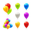 Toy balloons icon set