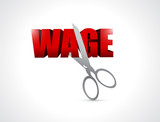 cutting wage. illustration design poster