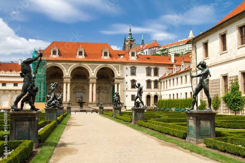 Waldstein palace garden (Valdstejnska Zahrada) and building of t
