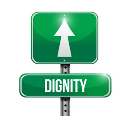 dignity road sign illustration design