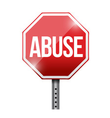 stop abuse road sign illustration design