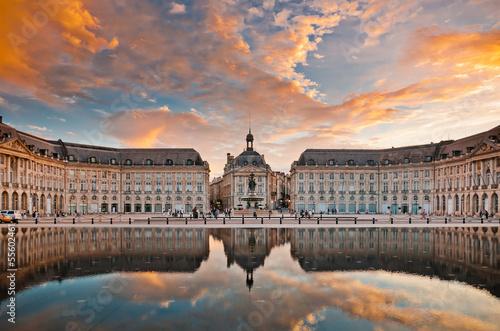 Leinwandbild Motiv Place de la Bourse in  Bordeaux, France