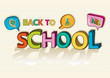 Back to school social colorful education icon background.