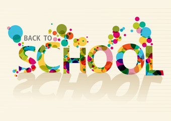 Back to school colorful circles EPS10 background file.