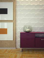 3d panels and chest of drawers 2
