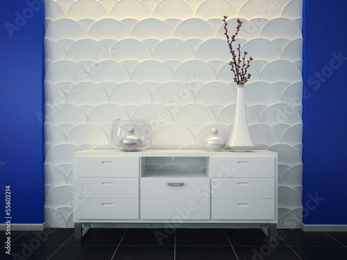 3d panels and chest of drawers