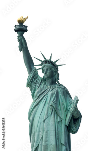 Statue of Liberty - Symbol of New York, isolated on white