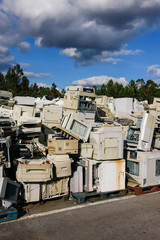 Electronic waste for recycling