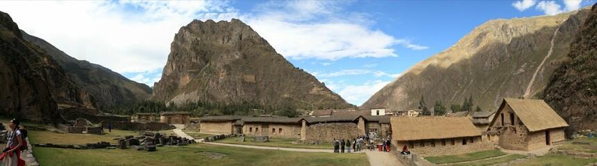 Ollantaytambo Inkastadt in Peru