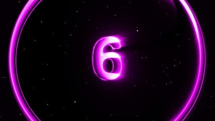 Countdown purple digital lens sphere