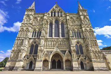 West Front of Salisbury Cathedral, England