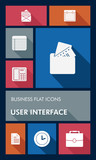 Colorful business UI apps user interface flat icons.
