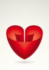 Sfondo cuore rosso cartiglio