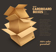 Cardboard boxes on dark gray background - eps10 vector