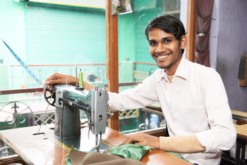 Indian man tailor portrait