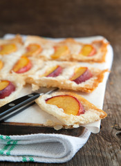Phyllo Tart with Sugared Peashes
