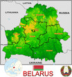 Belarus Europe national emblem map symbol location